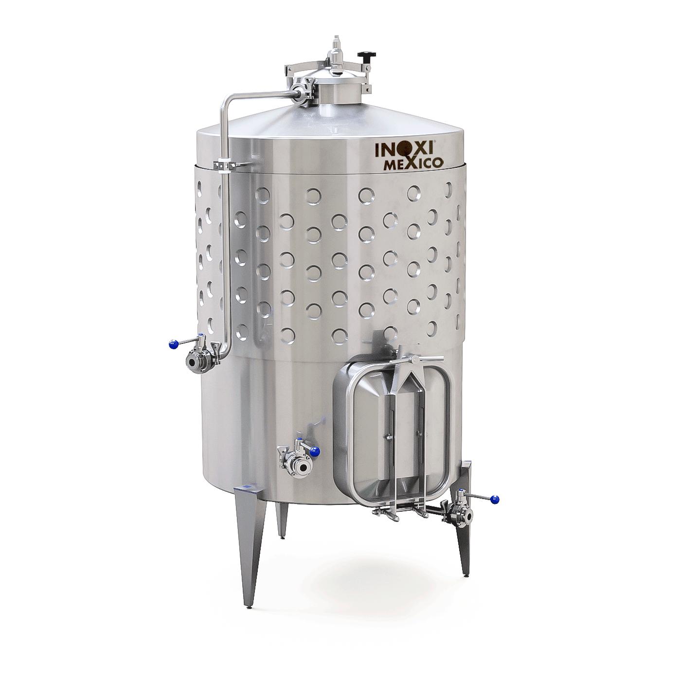 Fermentador De Vino Tinto de 5,000L Recirculado / Enchaquetado
