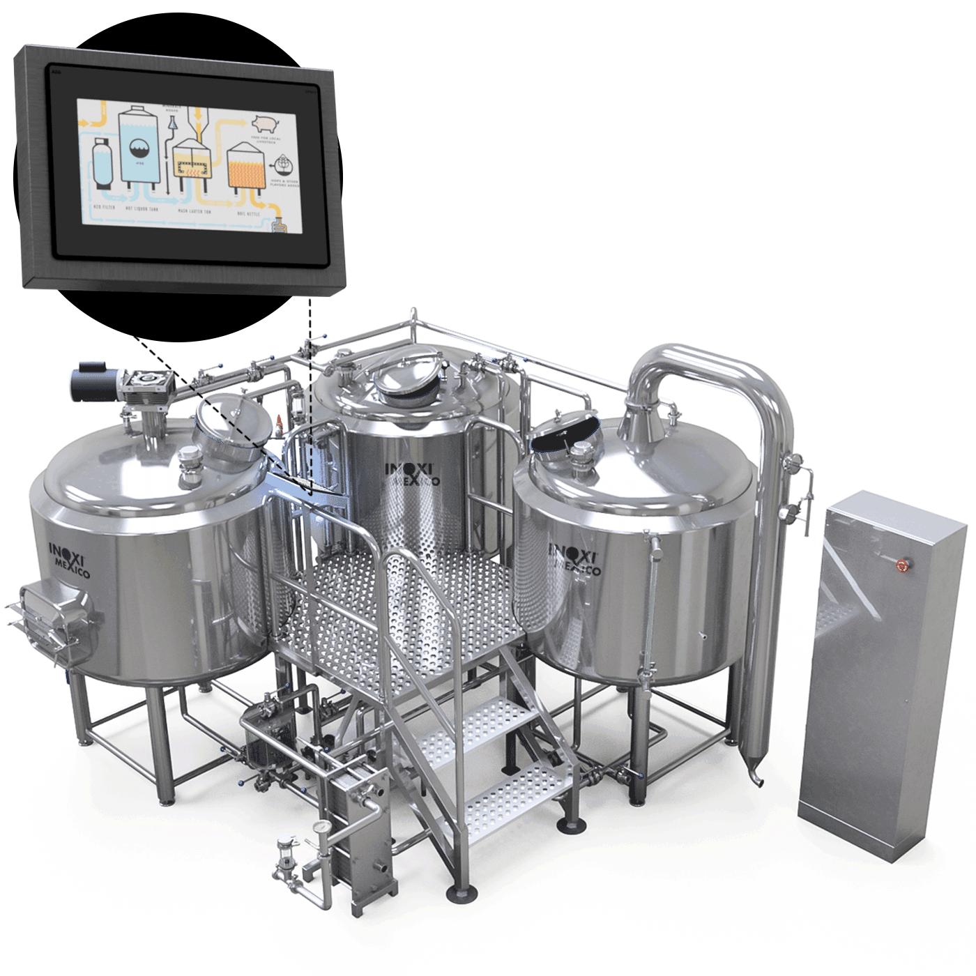BrewersPro Calentamiento a Vapor 1,500 Litros Nominales (1,000L - 8.5BBL Útil)
